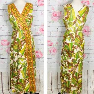 Vintage late 60's early 70's floral maxi dress
